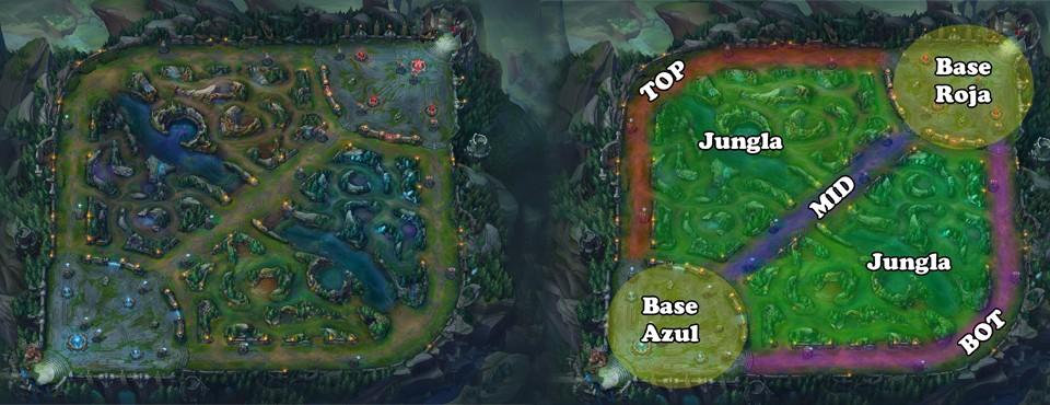 Mapa Guia League of Legends