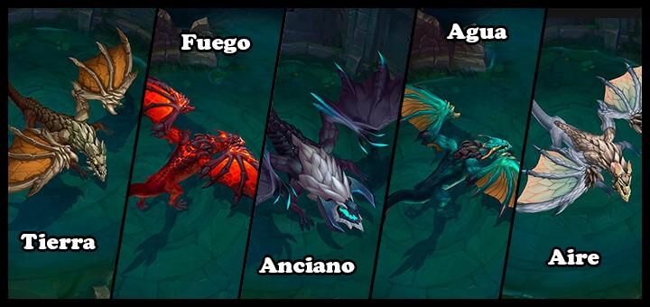Tipos de dragones LoL